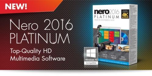 Nero 2016 Platinum 17.0.04500 Retail + ContentPack (2016) PC